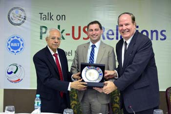 Michael Cognato from  US Consulate, Lahore,  Delivers Talk on US-Pakistan Relations