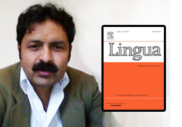 Research Paper Authored by Dr Arshad Ali Khan Accepted for Publication in Elsevier Journal Lingua