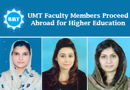 UMT Faculty Members Proceed Abroad for Higher Education