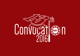 13th UMT Convocation to be held on November 26, 2016